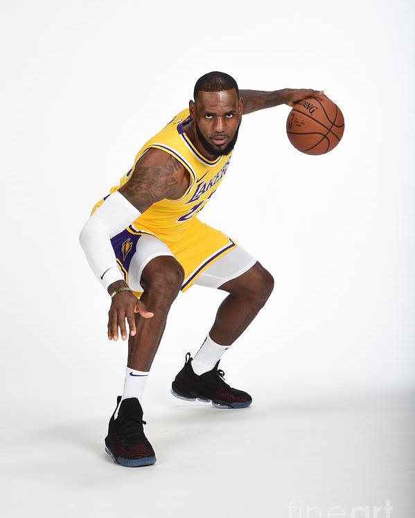 Media Day Poster featuring the photograph Lebron James by Andrew D. Bernstein