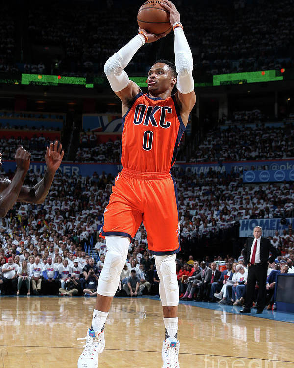Playoffs Poster featuring the photograph Russell Westbrook by Layne Murdoch