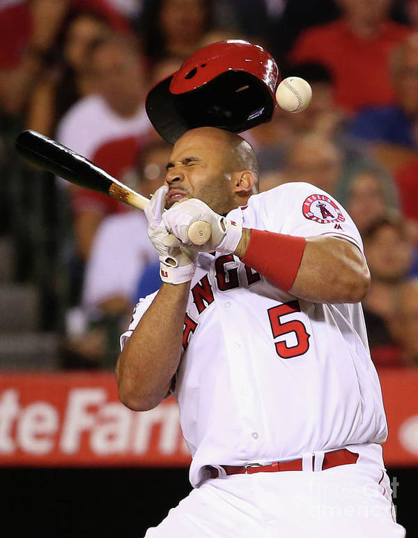 Three Quarter Length Poster featuring the photograph Albert Pujols by Sean M. Haffey