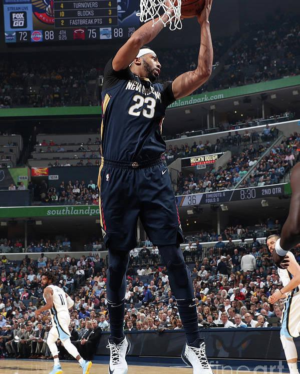Nba Pro Basketball Poster featuring the photograph Anthony Davis by Joe Murphy