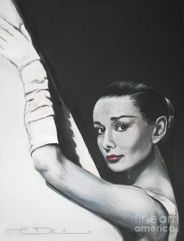 Audrey Hepburn Poster featuring the painting Audrey Hepburn by Eric Dee