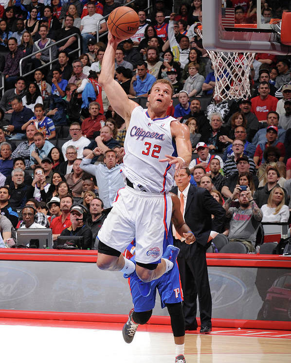 Nba Pro Basketball Poster featuring the photograph Blake Griffin by Andrew D. Bernstein