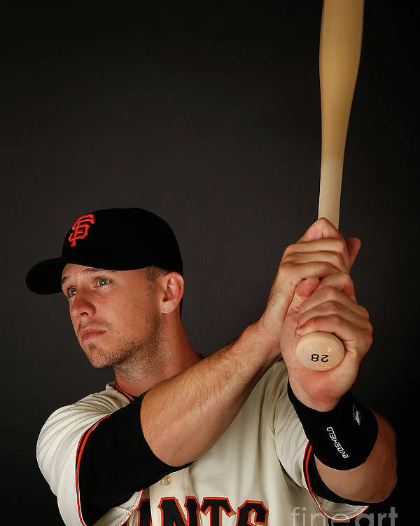 Media Day Poster featuring the photograph Buster Posey by Christian Petersen