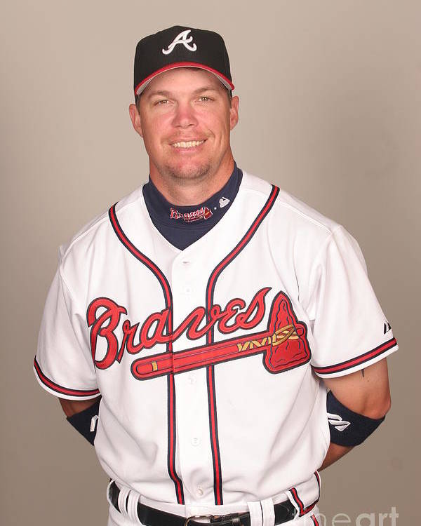 Media Day Poster featuring the photograph Chipper Jones by Tony Firriolo