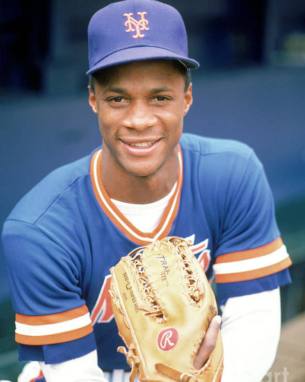 1980-1989 Poster featuring the photograph Darryl Strawberry by Rich Pilling