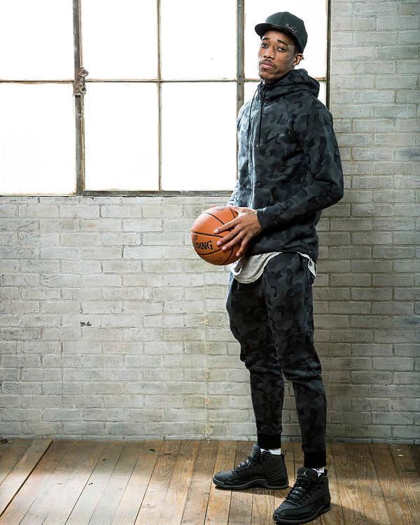 Nba Pro Basketball Poster featuring the photograph Demar Derozan by Nathaniel S. Butler