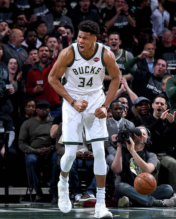 Playoffs Poster featuring the photograph Giannis Antetokounmpo by Brian Babineau