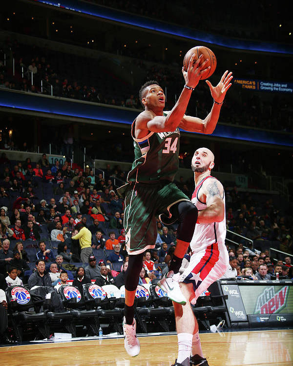 Nba Pro Basketball Poster featuring the photograph Giannis Antetokounmpo by Ned Dishman