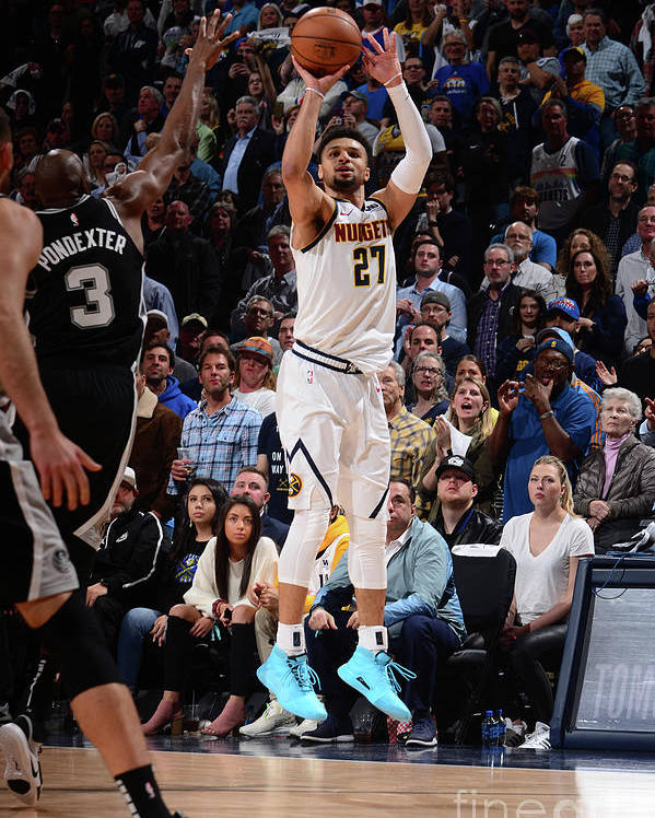Playoffs Poster featuring the photograph Jamal Murray by Bart Young