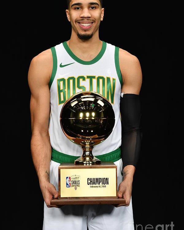 Nba Pro Basketball Poster featuring the photograph Jayson Tatum by Jesse D. Garrabrant