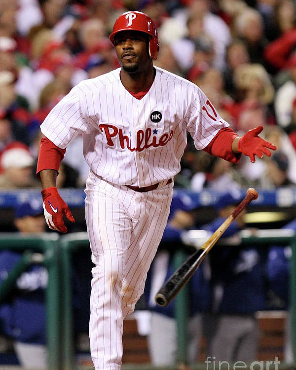 Playoffs Poster featuring the photograph Jimmy Rollins by Nick Laham
