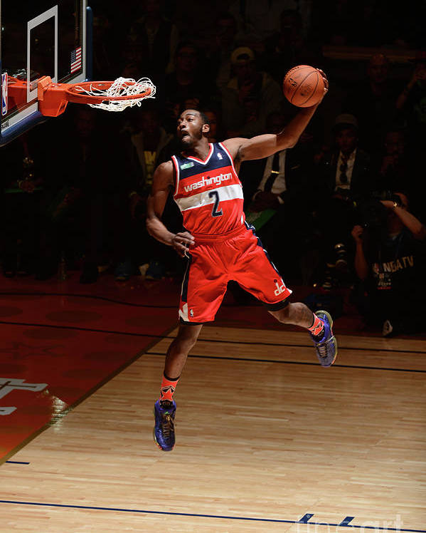 Smoothie King Center Poster featuring the photograph John Wall by Garrett Ellwood