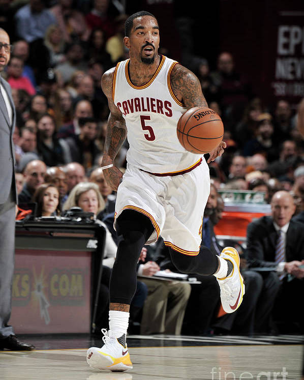 Nba Pro Basketball Poster featuring the photograph J.r. Smith by David Liam Kyle