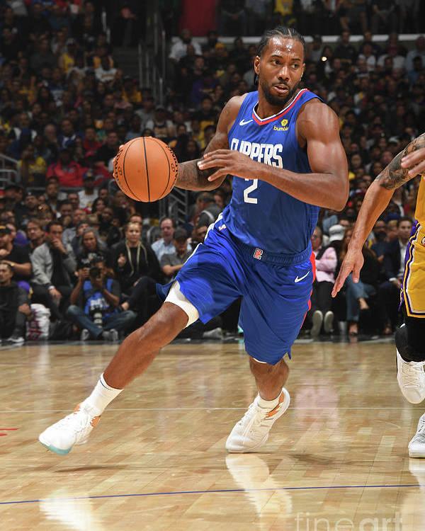 Nba Pro Basketball Poster featuring the photograph Kawhi Leonard by Andrew D. Bernstein