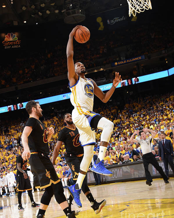 Playoffs Poster featuring the photograph Kevin Durant by Andrew D. Bernstein