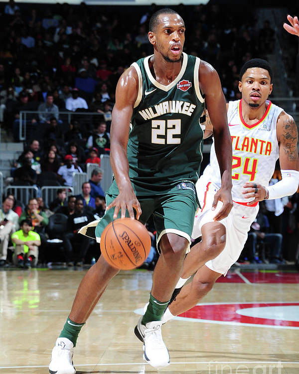 Sport Poster featuring the photograph Khris Middleton by Scott Cunningham