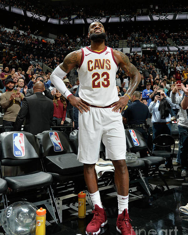 Nba Pro Basketball Poster featuring the photograph Lebron James by Mark Sobhani