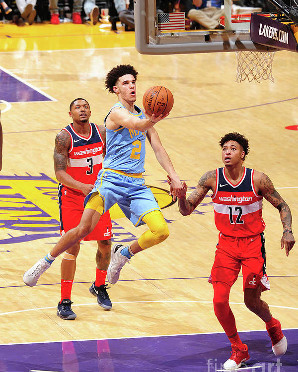 Nba Pro Basketball Poster featuring the photograph Lonzo Ball by Andrew D. Bernstein