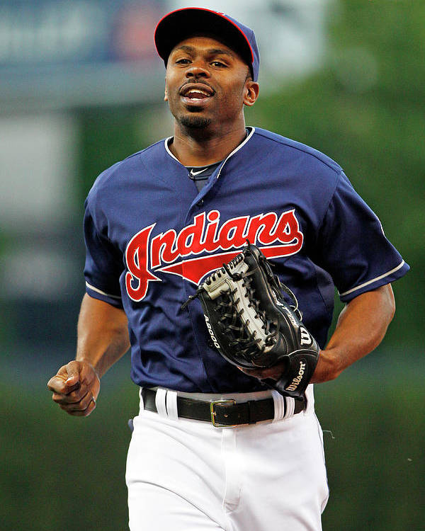 Michael Bourn Poster featuring the photograph Michael Bourn by David Maxwell