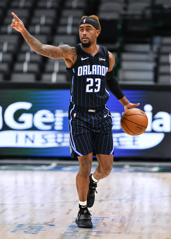 Jordan Bone Poster featuring the photograph Orlando Magic v Dallas Mavericks by Glenn James