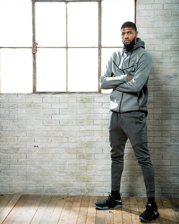 Nba Pro Basketball Poster featuring the photograph Paul George by Nathaniel S. Butler