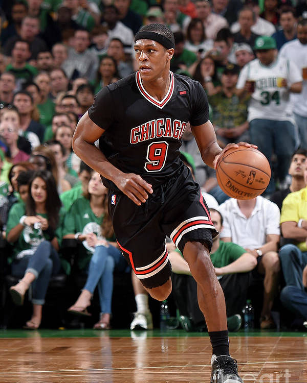 Playoffs Poster featuring the photograph Rajon Rondo by Brian Babineau