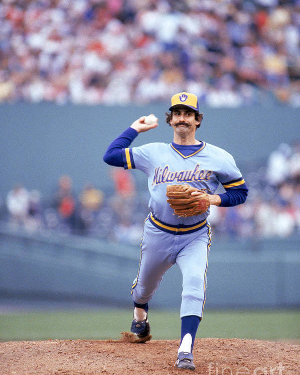 1980-1989 Poster featuring the photograph Rollie Fingers by Rich Pilling