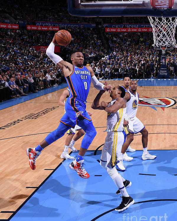 Nba Pro Basketball Poster featuring the photograph Russell Westbrook by Garrett Ellwood