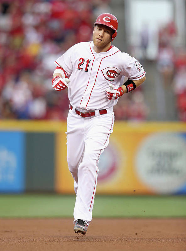 Great American Ball Park Poster featuring the photograph Todd Frazier by Andy Lyons