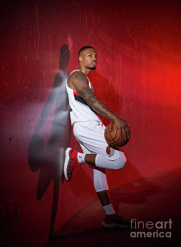 Media Day Poster featuring the photograph Damian Lillard by Sam Forencich