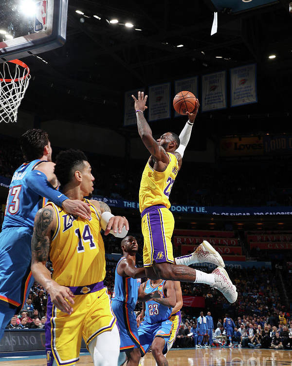 Nba Pro Basketball Poster featuring the photograph Lebron James by Joe Murphy