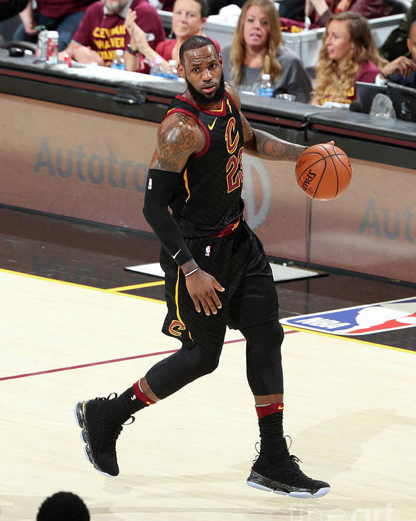 Playoffs Poster featuring the photograph Lebron James by Nathaniel S. Butler