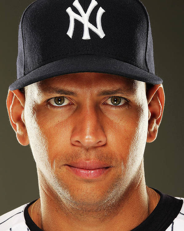 Media Day Poster featuring the photograph Alex Rodriguez by Al Bello