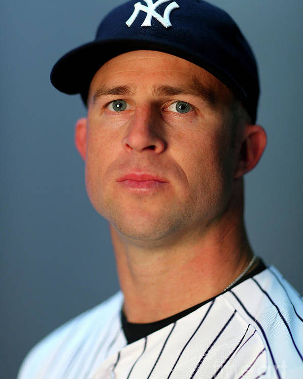People Poster featuring the photograph Brett Gardner by Elsa
