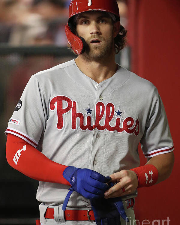 Three Quarter Length Poster featuring the photograph Bryce Harper by Christian Petersen