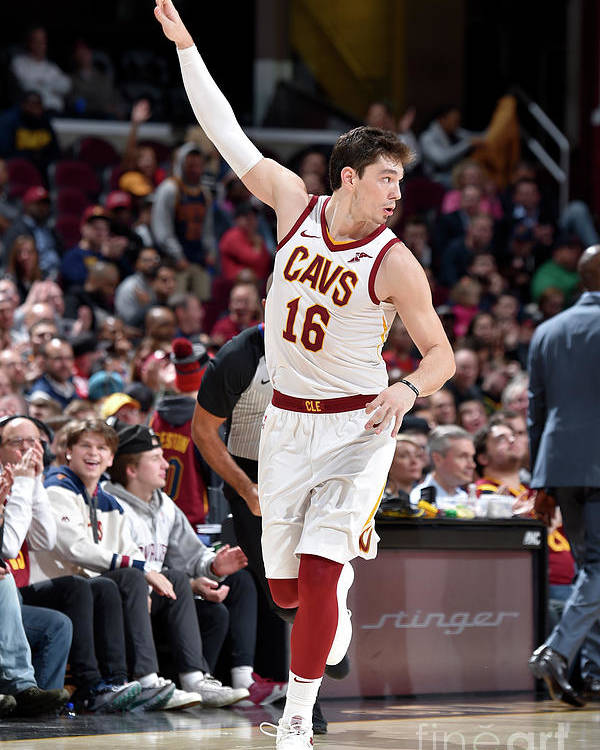 Nba Pro Basketball Poster featuring the photograph Cedi Osman by David Liam Kyle