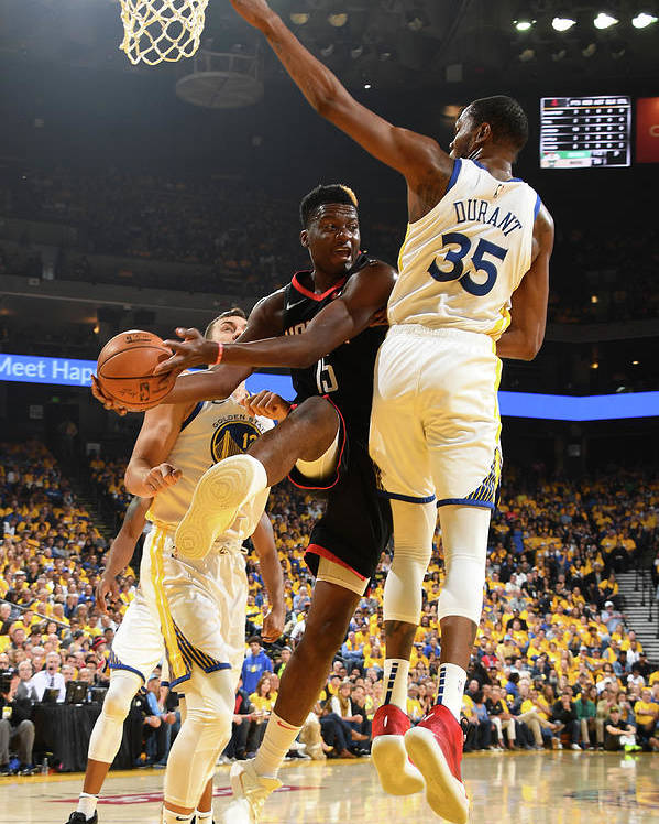 Playoffs Poster featuring the photograph Clint Capela by Andrew D. Bernstein