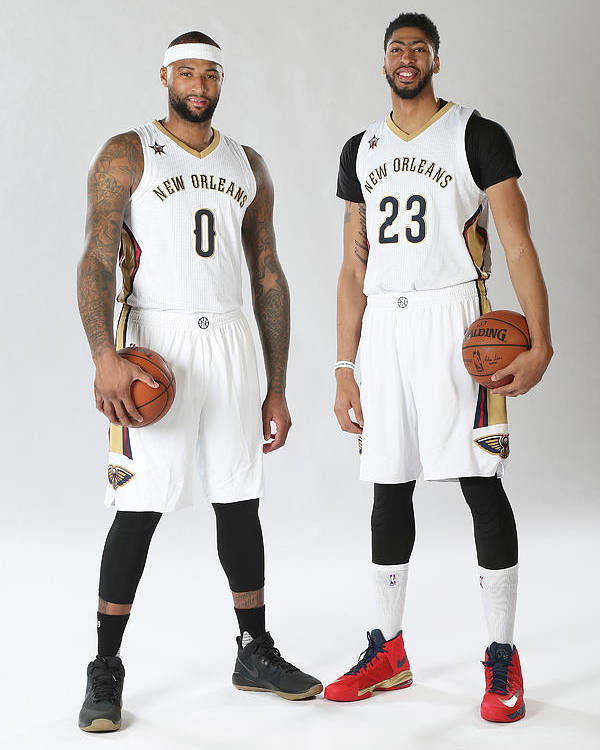 Nba Pro Basketball Poster featuring the photograph Demarcus Cousins and Anthony Davis by Layne Murdoch