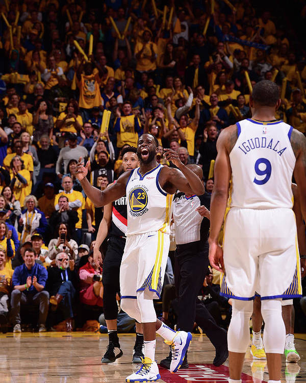 Playoffs Poster featuring the photograph Draymond Green by Noah Graham