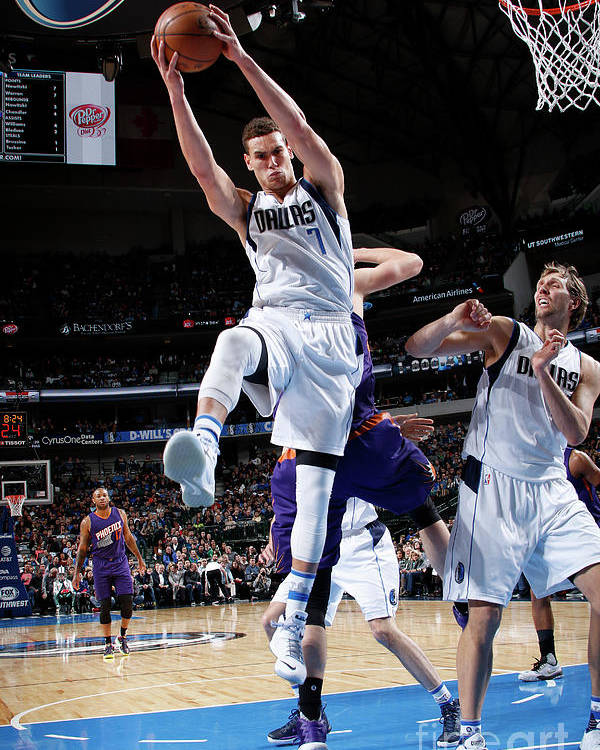 Dwight Powell Poster featuring the photograph Dwight Powell by Glenn James