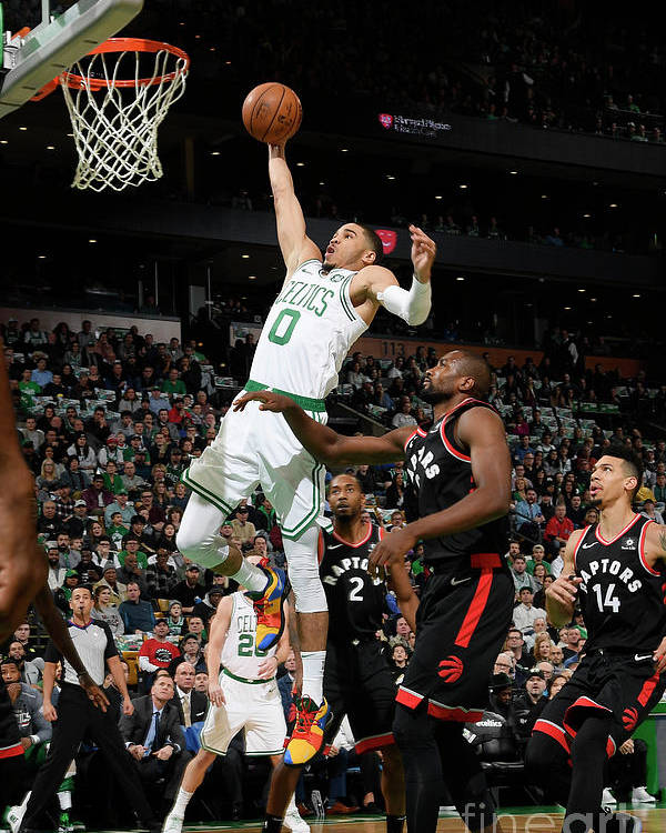 Nba Pro Basketball Poster featuring the photograph Jayson Tatum by Brian Babineau