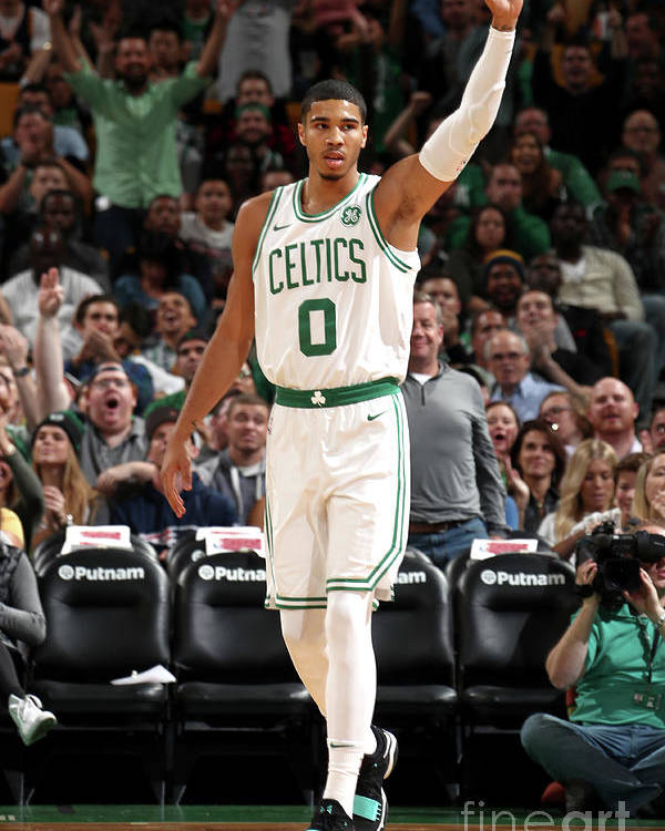 Nba Pro Basketball Poster featuring the photograph Jayson Tatum by Nathaniel S. Butler