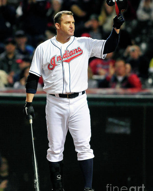 Crowd Poster featuring the photograph Jim Thome by Jason Miller