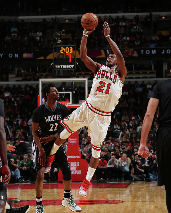 Nba Pro Basketball Poster featuring the photograph Jimmy Butler by Gary Dineen