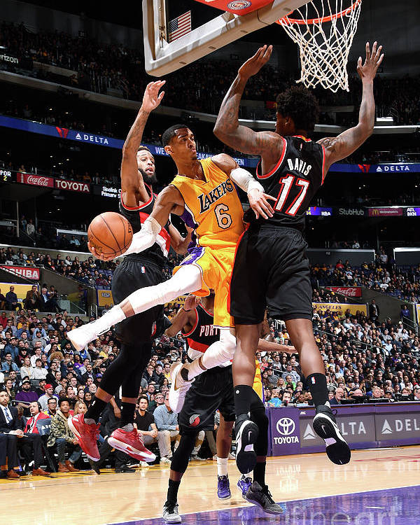 Nba Pro Basketball Poster featuring the photograph Jordan Clarkson by Andrew D. Bernstein