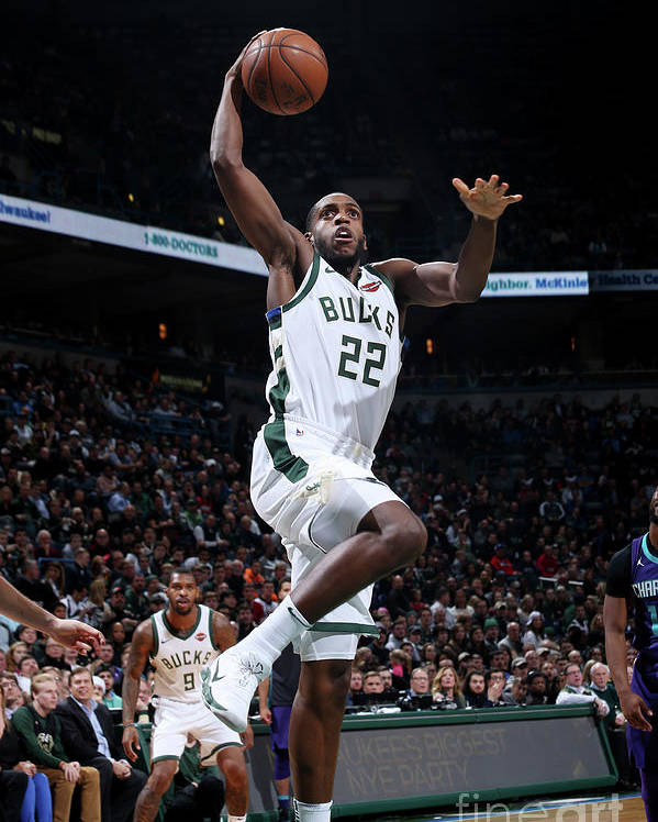 Nba Pro Basketball Poster featuring the photograph Khris Middleton by Gary Dineen