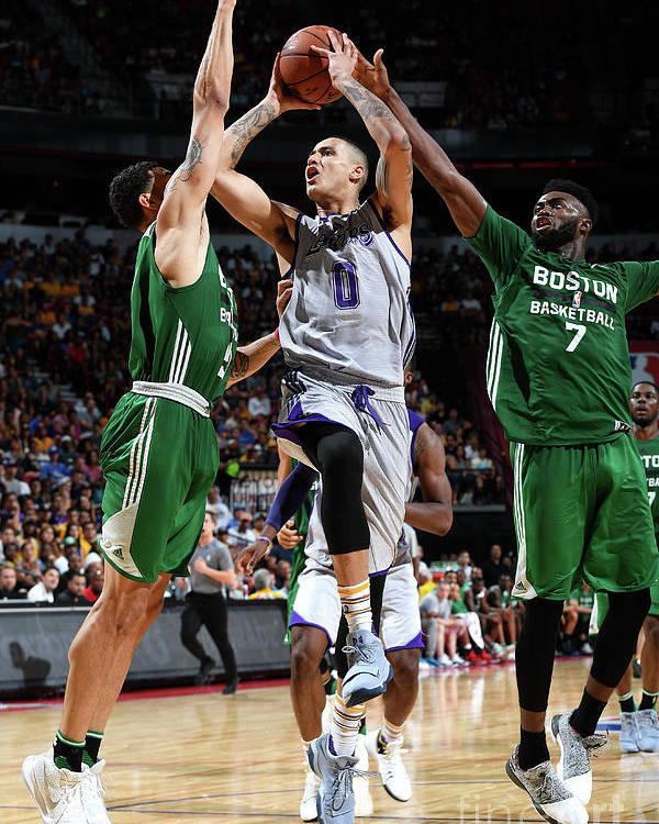 Nba Pro Basketball Poster featuring the photograph Kyle Kuzma by Garrett Ellwood