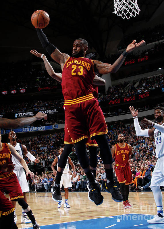 Nba Pro Basketball Poster featuring the photograph Lebron James by Glenn James