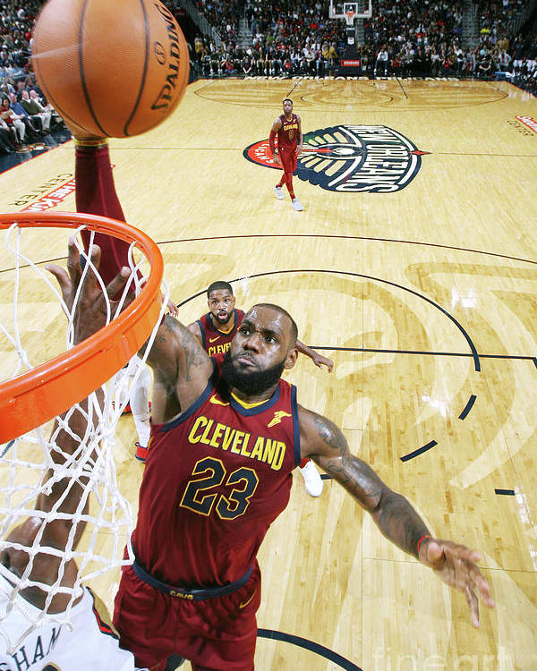 Smoothie King Center Poster featuring the photograph Lebron James by Layne Murdoch