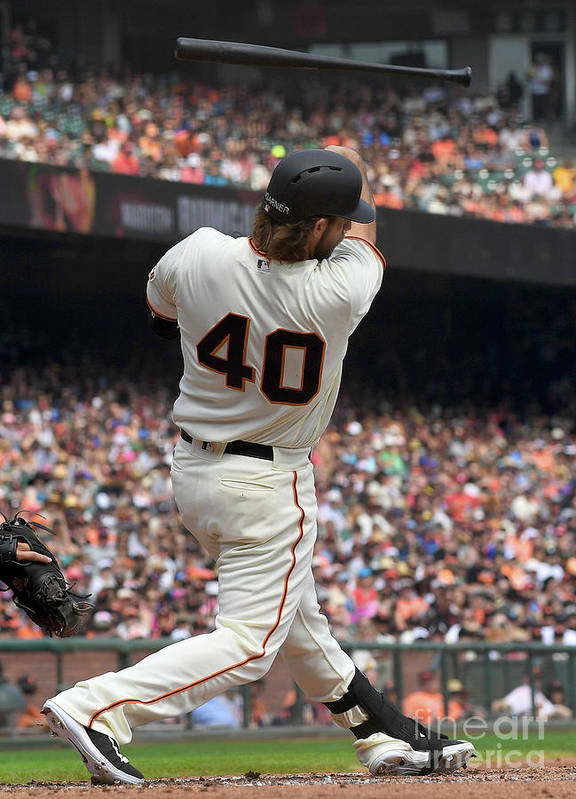 San Francisco Poster featuring the photograph Madison Bumgarner by Thearon W. Henderson